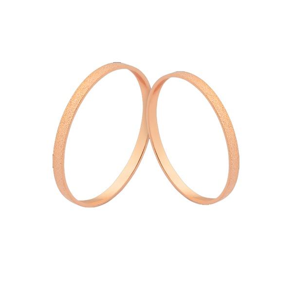 Alianças De Casamento Diamantadas Ouro Rosé