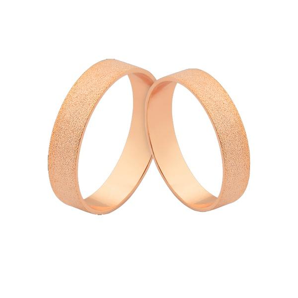 Alianças De Noivado Em Ouro Rosé 18k