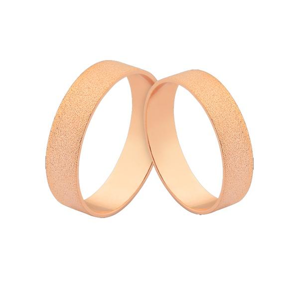 Alianças De Ouro Rosé 18k 5,00mm