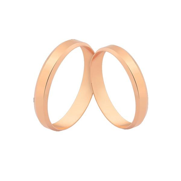 Alianças De Ouro Rosé 18k Leves