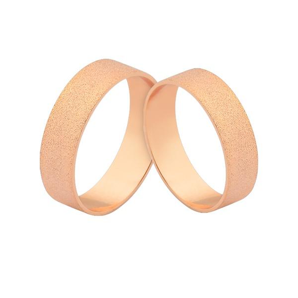 Alianças De Ouro Rosé Em Promoção - L-J-485-R - Alianças Jessica