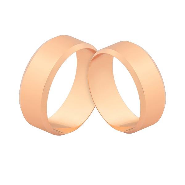 Alianças Em Ouro Rosé 18k