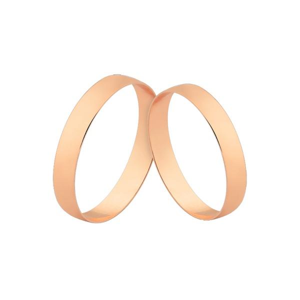 Alianças Finas De Noivado e Casamento De Ouro Rosé 18k