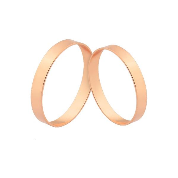 Alianças Lindas De Ouro Rosé 18k Entrega Rápida