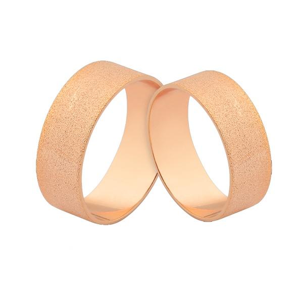 Preço Promocional Em Alianças De Ouro Rosé 18k - L-J-500-R - Alianças Jessica