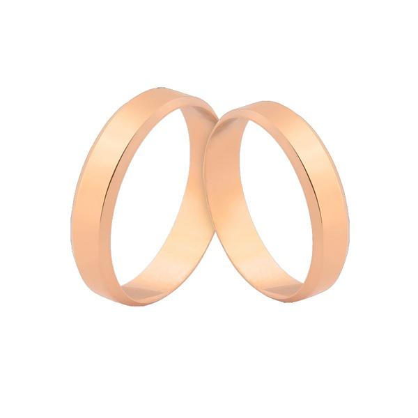 Alianças e Ouro Rosé 18k