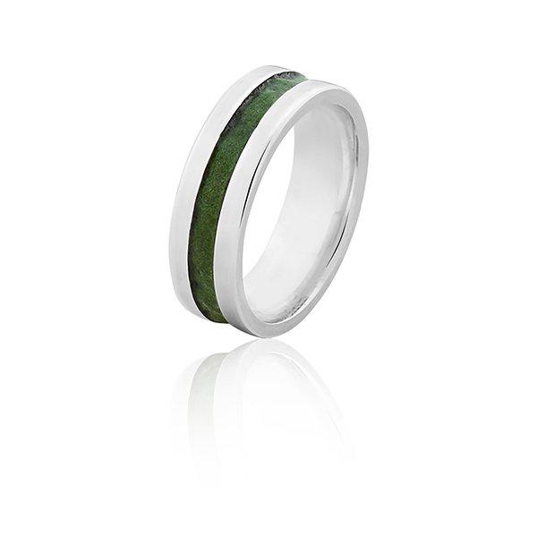 Alianças De Prata Esmaltada Verde - L-AG-2031-u - Alianças Jessica