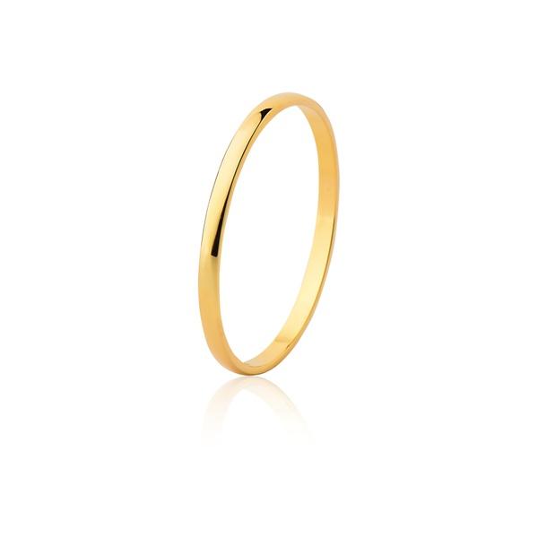 Aliança Casamento Ouro Amarelo 18k (1,50mm) - L-CM-15-u - Alianças Jessica