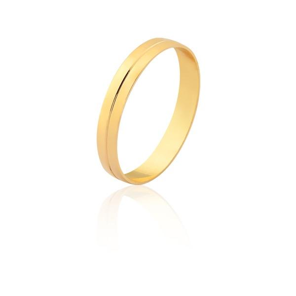 Aliança De Ouro Amarelo 18k (3mm) - L-CM-162-u - Alianças Jessica