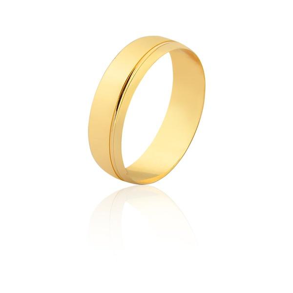 Aliança De Ouro Amarelo 18k (4mm) - L-CM-165-u - Alianças Jessica