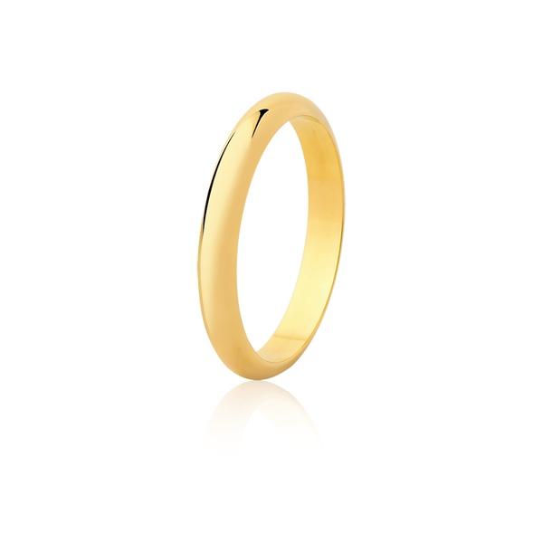 Aliança De Ouro Amarelo 18k (3,2mm)
