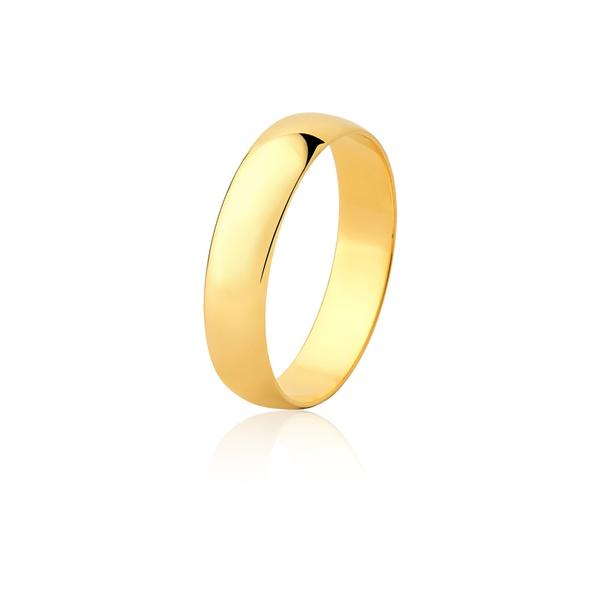 Aliança Ouro Amarelo 18k (4,00mm) - L-CM-40-u - Alianças Jessica