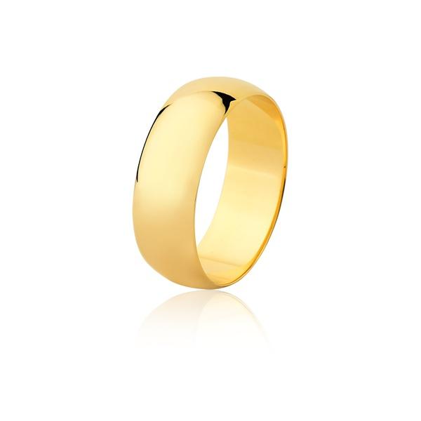 Aliança De Ouro Amarelo 18k (7mm)