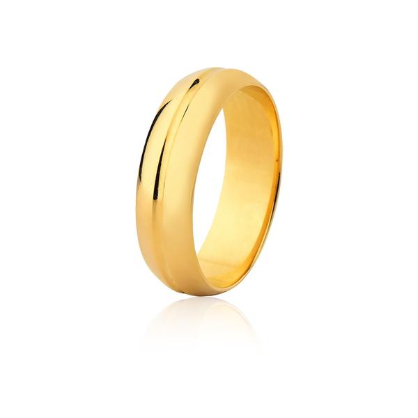 Aliança De Ouro Amarelo 18k (6mm)