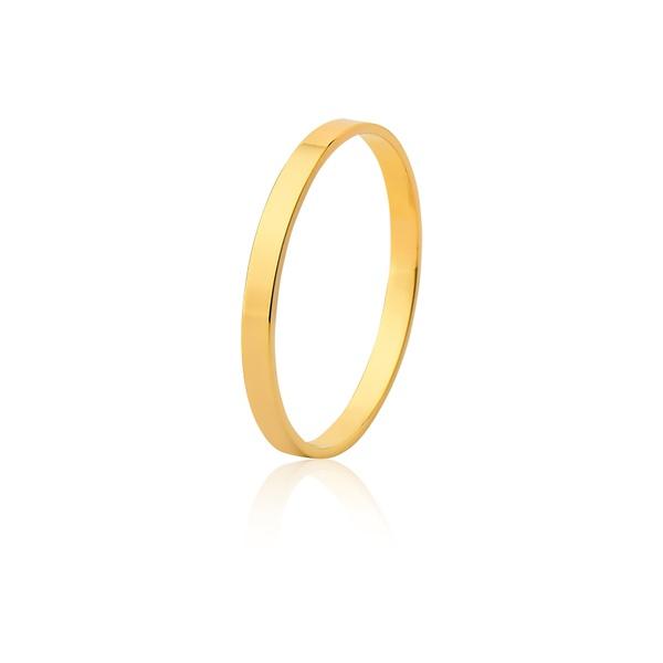 Aliança De Ouro Amarelo 18k (2mm)