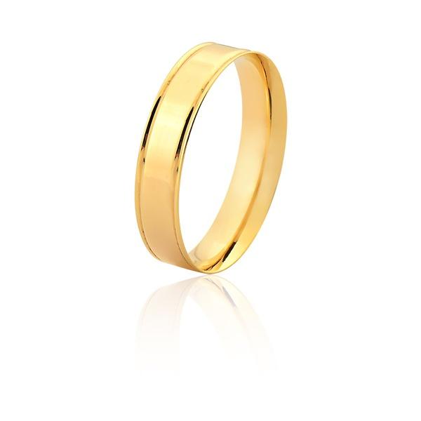 Aliança De Ouro Amarelo 18k (4,6mm) - L-JE-570-u - Alianças Jessica