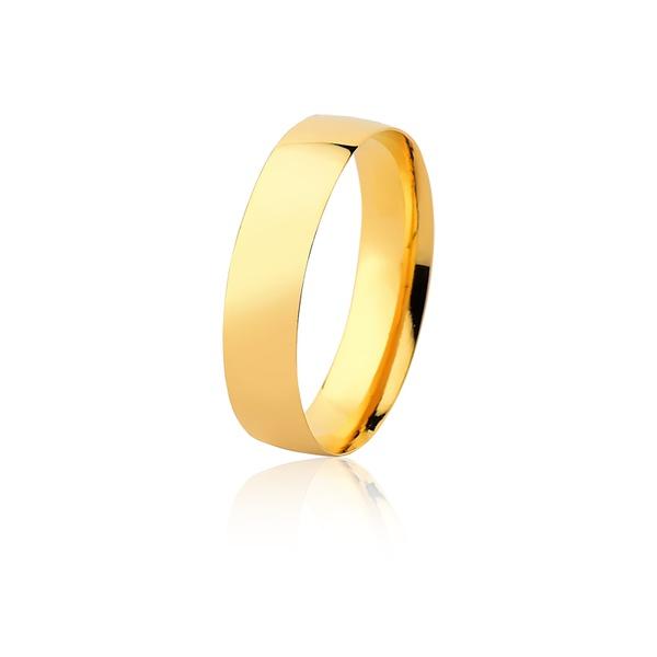 Aliança Ouro Amarelo 18k (5,00mm) - L-MM-135-u - Alianças Jessica