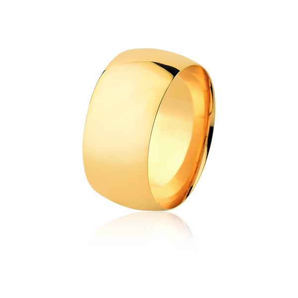 Aliança De Ouro Amarelo 18k (10mm)