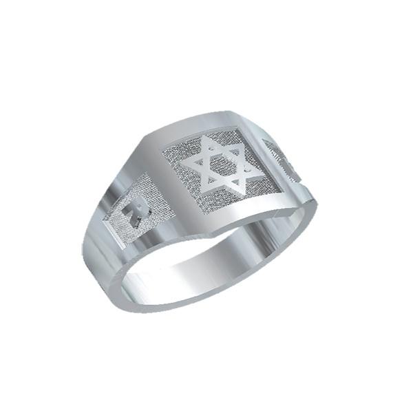 Anel de Prata Estrela de Davi