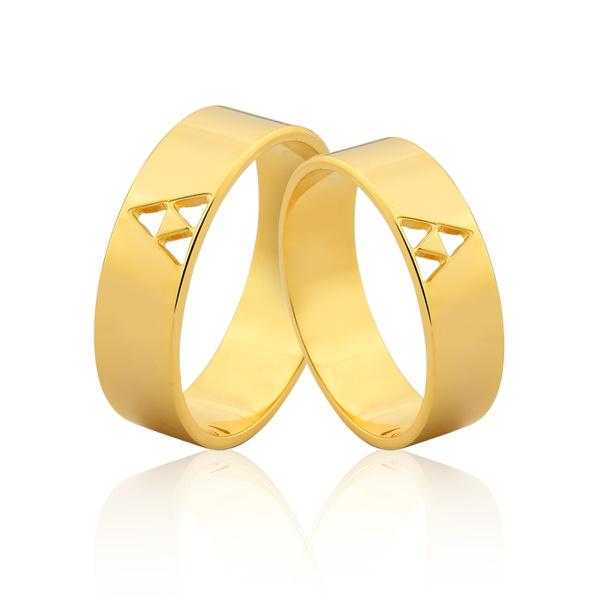 Alianças De Ouro 18k Roraima - L-JN-439-RR - Alianças Jessica