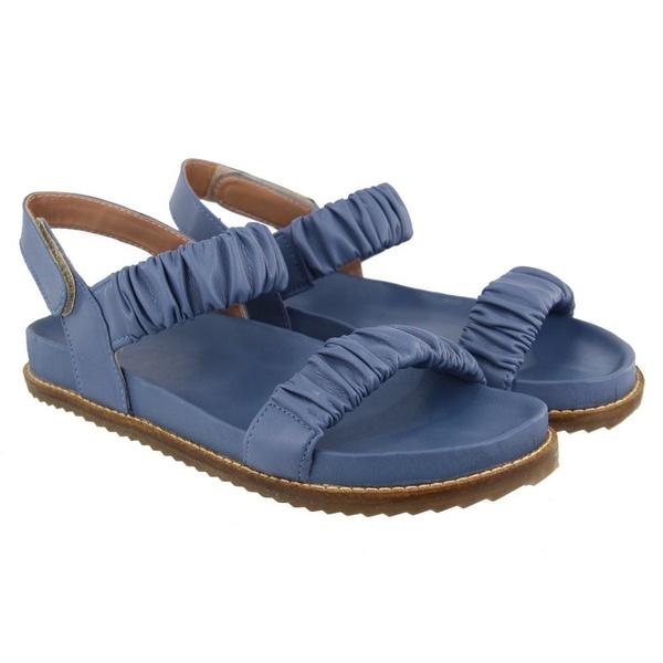 Sandália Papete Feminina Azul