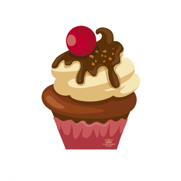Enfeite Cupcake Chocolate C/ Cereja