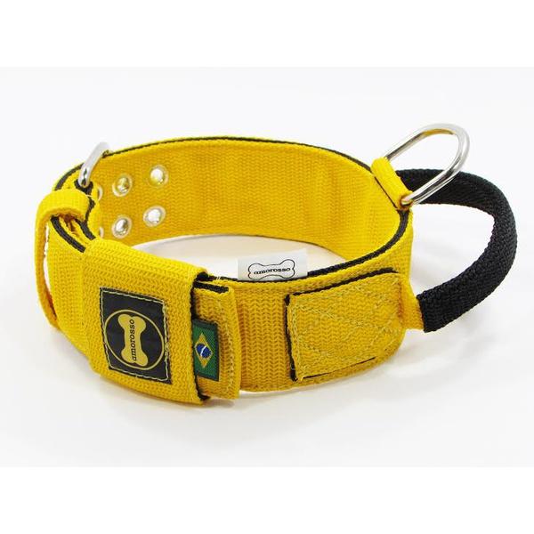 Coleira Para Cachorro Poderosso - Amarelo e Preto