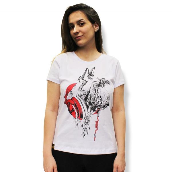 Camiseta Schnauzer Amorosso Branca