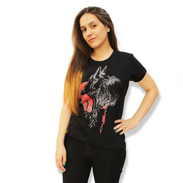 Camiseta Schnauzer Amorosso Preto