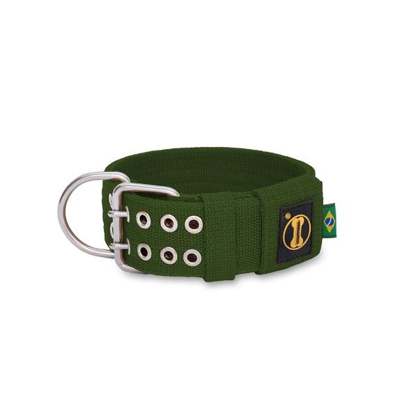 Coleira Para Cachorro Amorosso Verde Militar