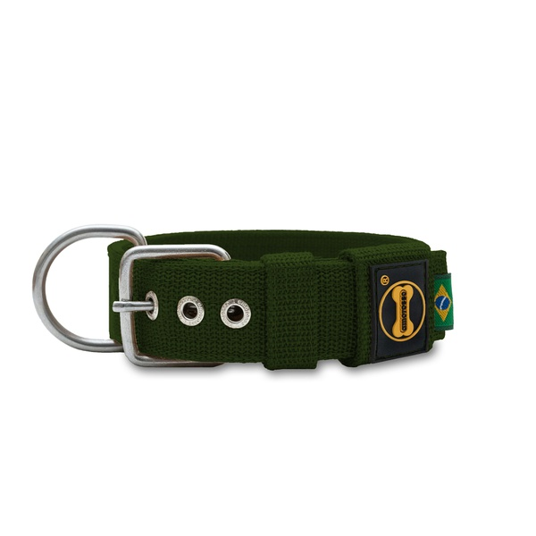 Coleira Para Cachorro Fit (verde militar)