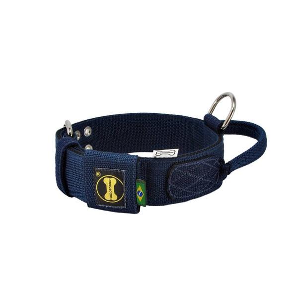 Coleira Para Cachorro Poderosso (azul marinho e preto)