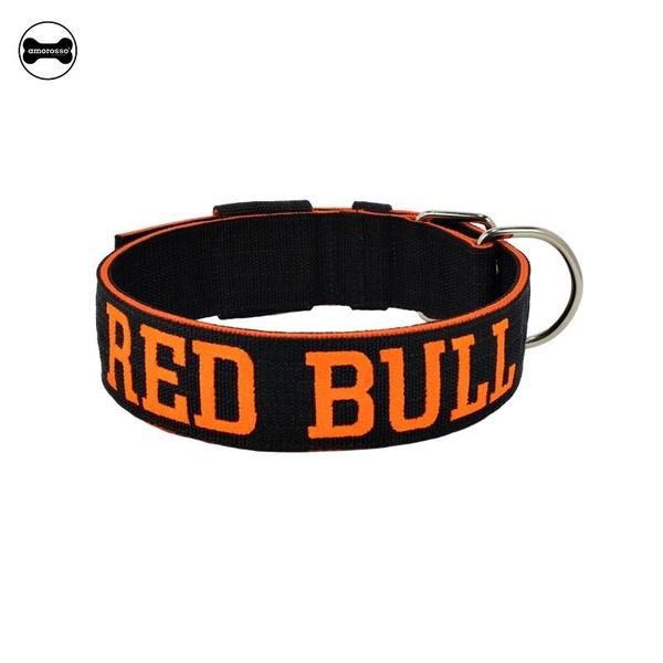 Coleira Para Cachorro Personalizada (preto e laranja)