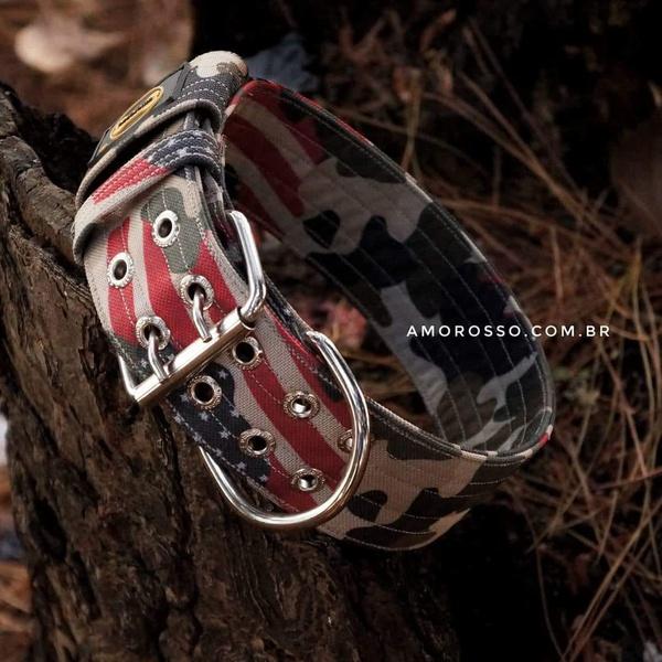 Coleira Amorosso® Camuflado USA