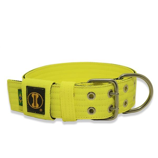Coleira Para Cachorro Amorosso (Amarelo Flúor e Preto)
