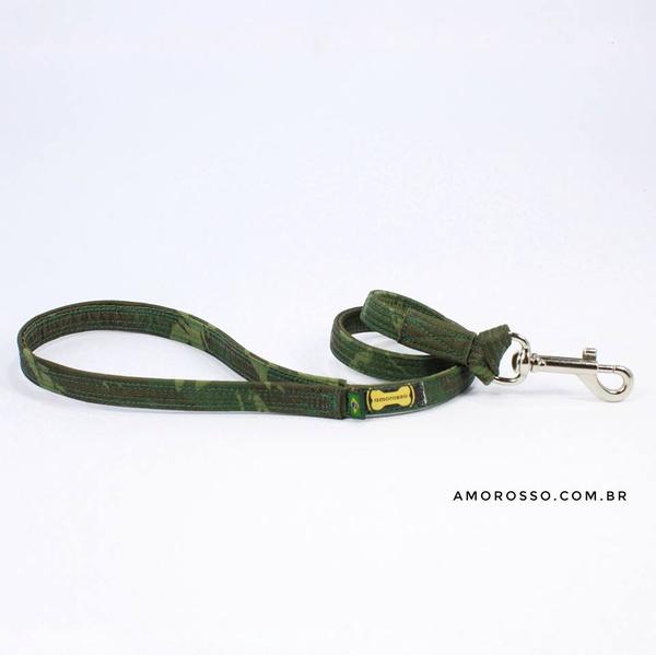 Guia Curta Amorosso® Camuflado Selva - 80cm