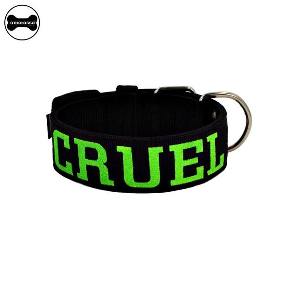 Coleira Para Cachorro Personalizada (Total Black e Verde Limão)