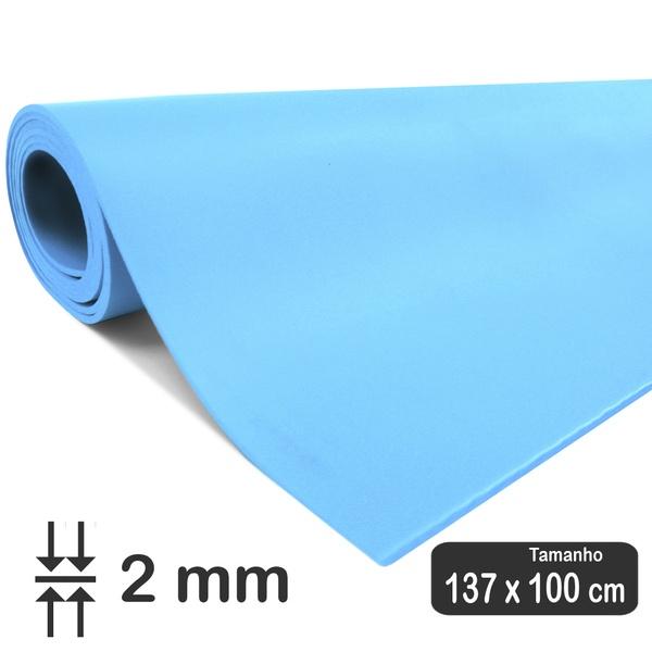 PORON Esportivo de retorno rápido Azul 2 mm - 1 x 1,37 Metros