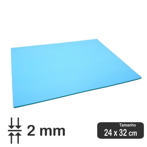 PORON Esportivo de retorno rápido Azul 2 mm - 32 x 24 cm
