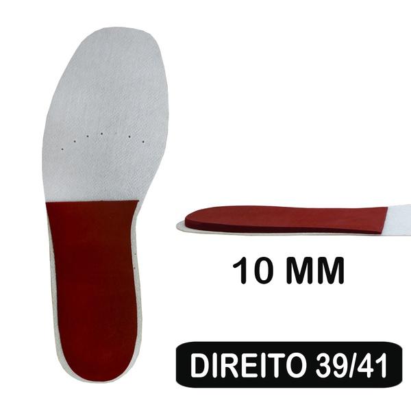 Palmilha de Resina - Cunha de 10 Mm - Pé Direito - DISMETRIA 39-41