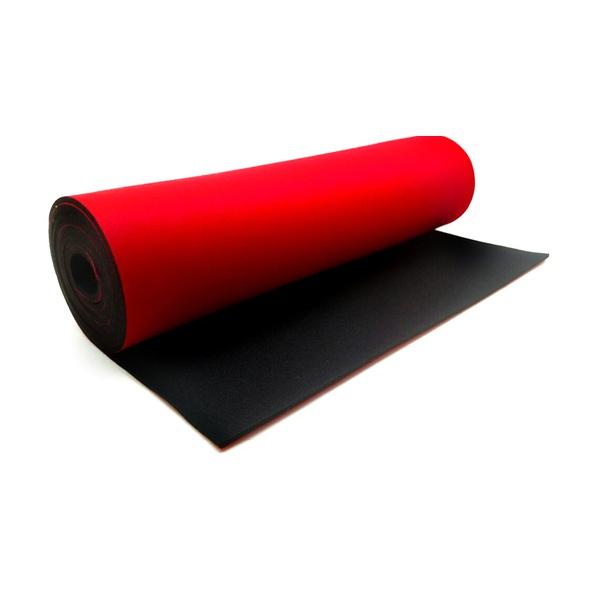 Neoprene 3 Mm - Preto / Vermelho (160 x 32 Cm)