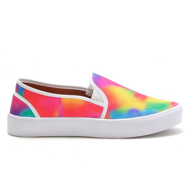 Slip On Feminino Color Tie Dye