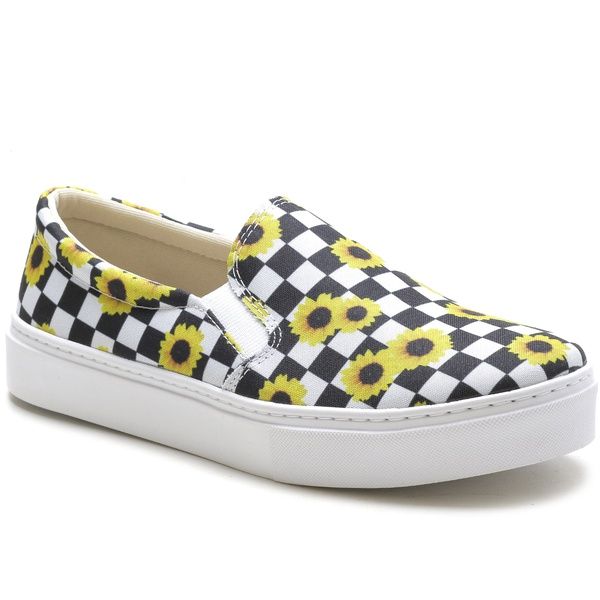 Slip On Feminino Siena Girassol Any Shoes