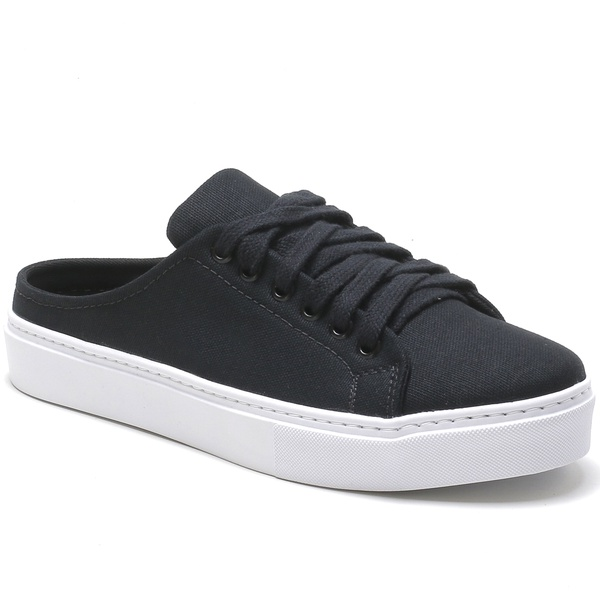Tênis Mule Feminino Matera Preto Lona Any Shoes