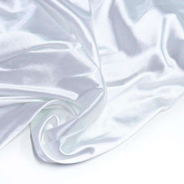 Tecido Cetim Charmeuse Liso Branco 100% Poliéster