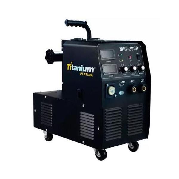MAQUINA DE SOLDA 3 EM 1 MIG/TIG/MMA PROFISSIONAL 200A 220V MONOFÁSICA - TITANIUM