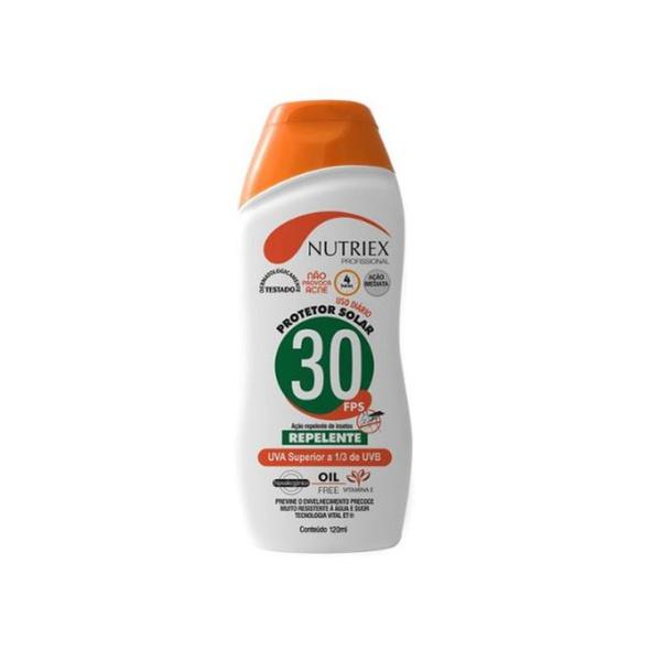 PROTETOR SOLAR 30 FPS COM REPELENTE (120ML) - NUTRIEX