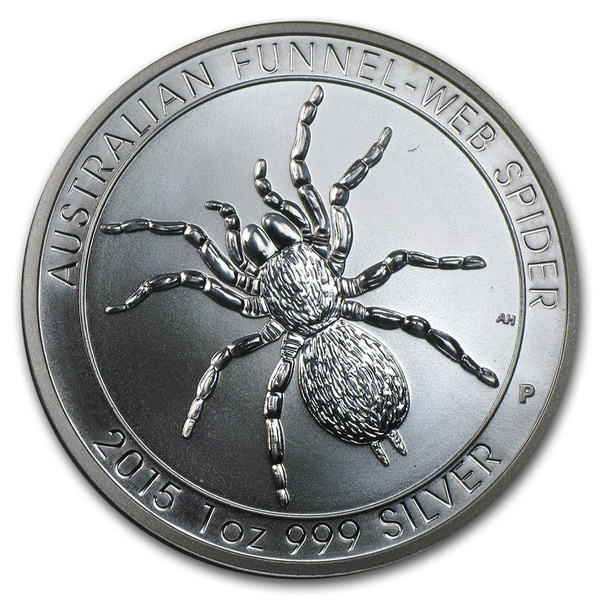 2015 Silver 1 oz Australia Perth Funnel-Web Spider