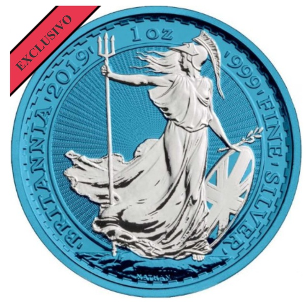 2019 Space Blue Great Britain Britannia Silver – 1 oz