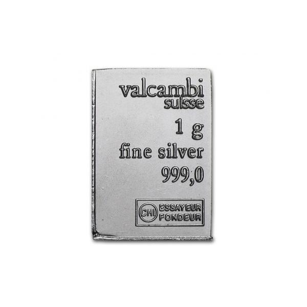 Barra de Prata 999 Valcambi 1 grama